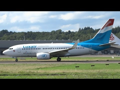 Luxair ENTIRE Fleet | Landing & Take-off | Luxembourg Findel Airport