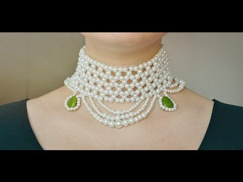 974cb9665b01bb Pandahall Tutorial on How to Make Chic Pearl Bead Choker Necklace with Jade  Beads - YouTube