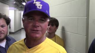 LSU coach Paul Mainieri jokes that donning a jersey for the first time in four years was a spark in