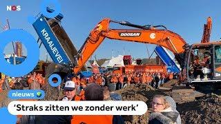 Boze bouwers protesteren in Den Haag