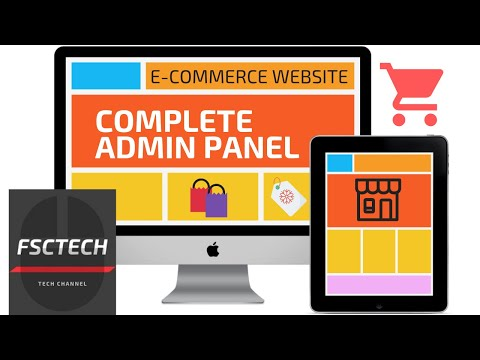 E COMMERCE WEBSITE PHP TUTORIAL-4 | COMPLETE ADMIN PANEL | Free ...