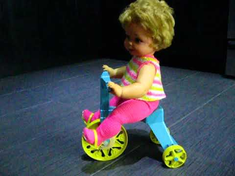 Vintage 1967 Mattel Tippee-Toes Doll With Tricycle Trike Rocking Horse - Reanimation Toys