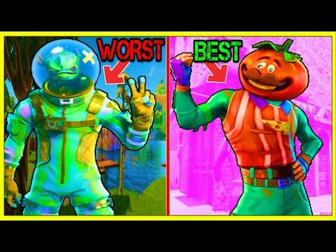 10 BEST LEGENDARY SKINS In FORTNITE! (Your Skins Are Horrible!)