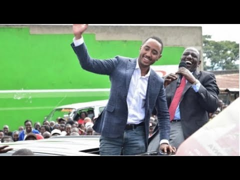 Shy moments of President Uhuru's son Muhoho Kenyatta during his visit to Nandi