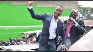 Shy moments of President Uhuru's son Muhoho Kenyatta during his visit to Nandi