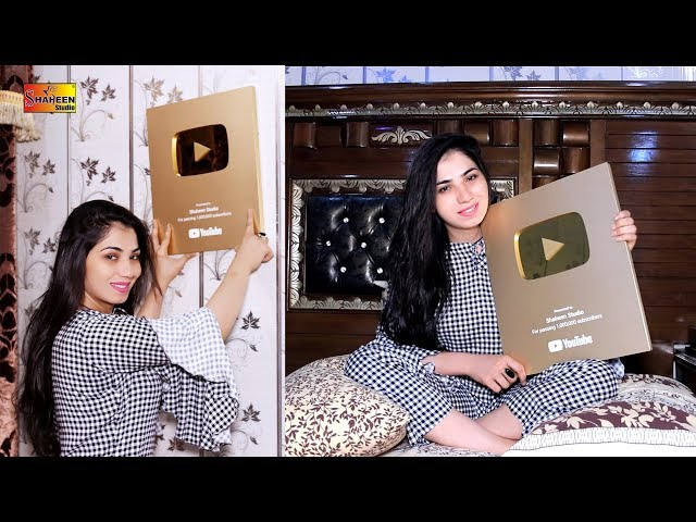 Mehak Malik | Alhamdulillah ! | Got Something Special from Youtube | Gold Play Button