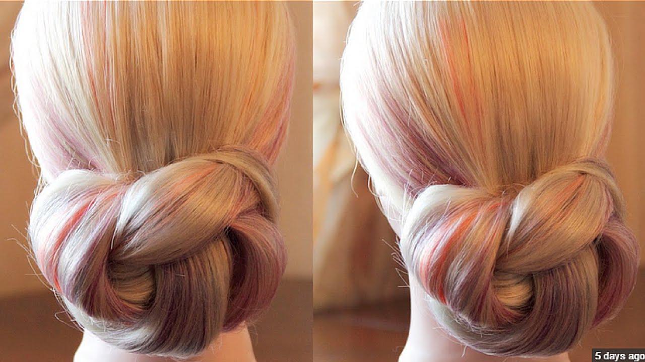 Peinado recogido sencillo paso a paso easy updo step by - Peinados faciles recogidos paso a paso ...