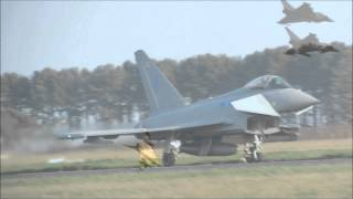 RAF Leuchars Airshow 2012, 6 Sqn Typhoon Diamond 9 formation [HD]