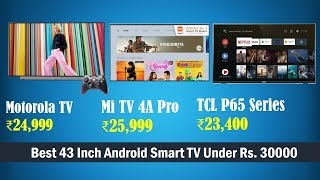 Motorola (43SAFHDM) vs Mi 4A Pro vs TCL (43S6500) TV   Best 43-inch Smart Android TV Under 30000
