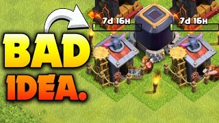 "Clash of Clans: ""THE WORST UPGRADE IN COC!"" WHAT TO DO WHEN YOU'RE MAXING BARRACKS"