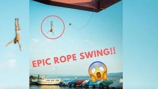 Rope Swing QUAD Backflip!! (crazy) | VLOG 20