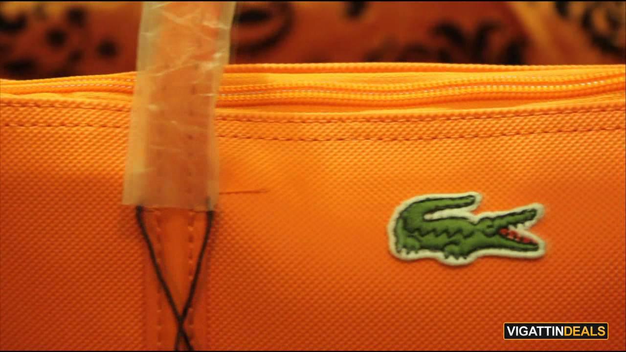 da519c42bfa Lacoste L.12.12 Concept Small Tote Bag - YouTube