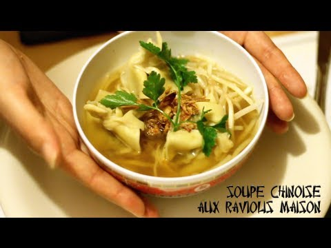 Miss Outlet cuisine  Soupe Chinoise aux raviolis  YouTube