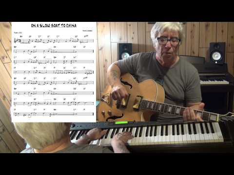ON A SLOW BOAT TO CHINA - Jazz guitar & piano cover ( Frank Loesser ) Yvan Jacques
