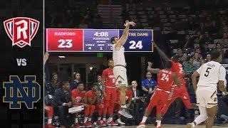 Radford vs. Notre Dame Basketball Highlights (2018-19)