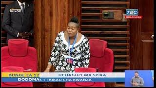 MBUNGE PEKEE WA CHADEMA ALIVYOSIMAMA BUNGENI KUULIZA SWALI KWA NDUGAI LEO...