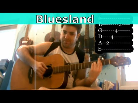 Tutorial: Jerry Reed's Bluesland - Fingerstyle Lesson w/ TAB