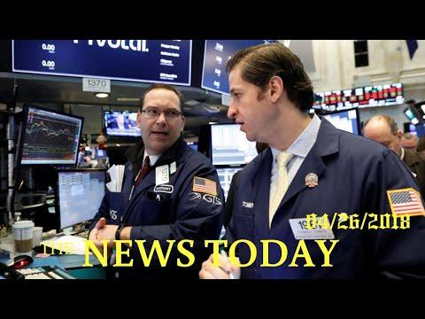 Wall Street Jumps As Tech Roars Back, Yields Retreat | News Today | 04/26/2018 | Donald Trump