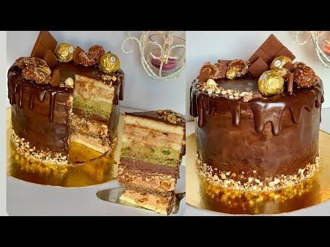 gateau-noisette/pistache/chocolat.-وصفه-اكثر-من-رائعه-و-بنه-لااا-تقاوم