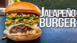 The Best Jalapeño Burger for National Cheeseburger Day | SAM THE COOKING GUY 4K