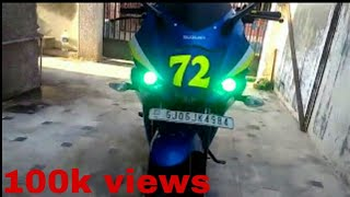 Suzuki Gixxer sf modified walk around 2(My Gixxer sf with new HID ring and projector light day time video., 2016-01-11T10:54:44.000Z)
