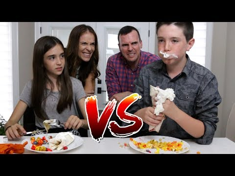 CANDY FOOD vs REAL FOOD!! (Burrito Edition)