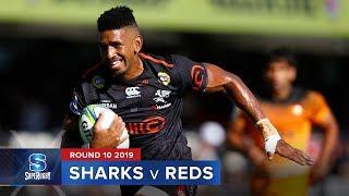 sharks v reds super rugby 2019 rd 10 highlights