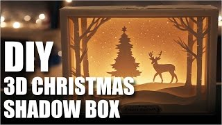 How To Make A DIY 3D Christmas Shadow Box Card