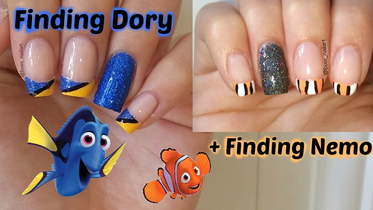 Finding dory easy nail art finding nemo movie nail art youtube prinsesfo Gallery