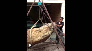 moving a large boulder with no heavy equipment