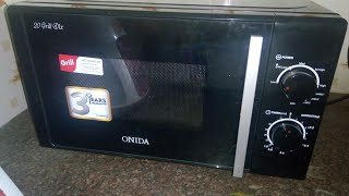 #onidamicrowave #demo #grillmicrowave Onida 20 L grill microwave oven MO20GMP12B, BLACK