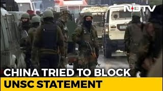 UNSC Pulwama Text Had India's Language Despite China's Protest: Sources