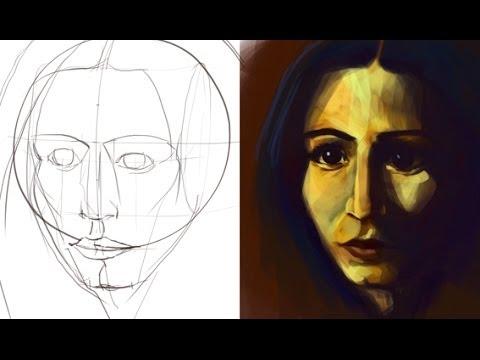 Portrait Malen 01 Youtube