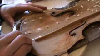 Jannes Irps - Repair of an old HOPF violin part 1