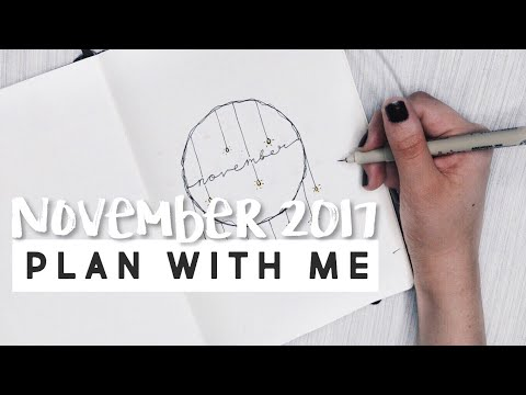 PLAN WITH ME   November 2017 Bullet Journal