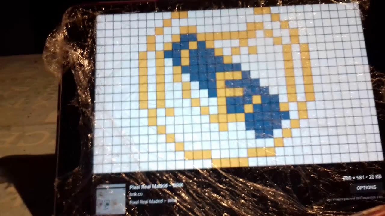 Pixel Art Réal Madrid Cousine Youtube