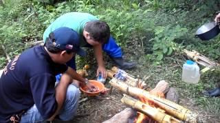 Bambu, Cozinhando Arroz, Fritando Peixes e Pipoca Primitive Technology DESBRAVADORES PATHFINDERS