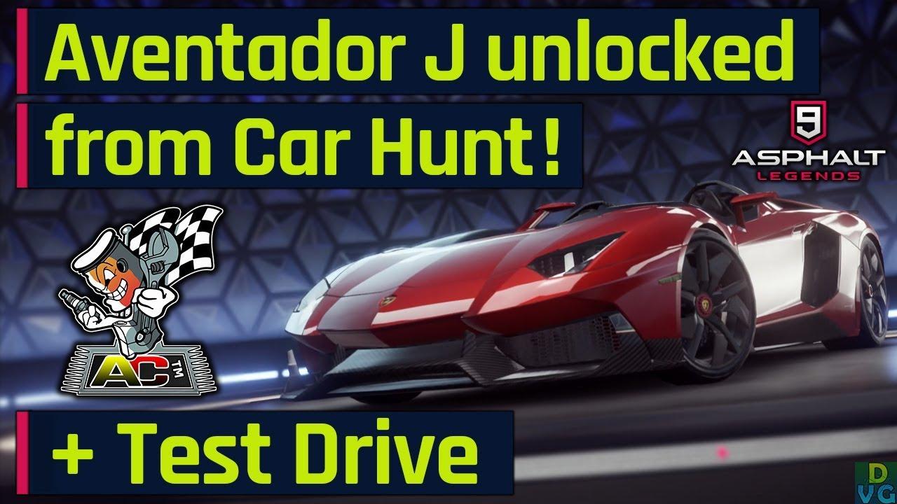 Asphalt 9 Lamborghini Aventador J Unlocked From The Car Hunt