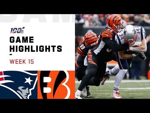 Patriots Vs. Bengals Week 15 Highlights | NFL 2019