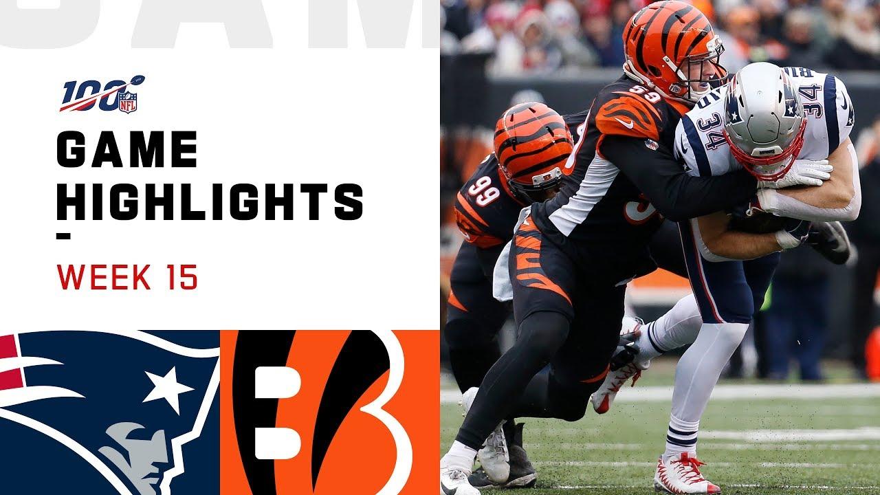 Patriots Vs Bengals Week 15 Highlights Nfl 2019 Youtube Cincinnati bengals game live streaming. patriots vs bengals week 15 highlights nfl 2019