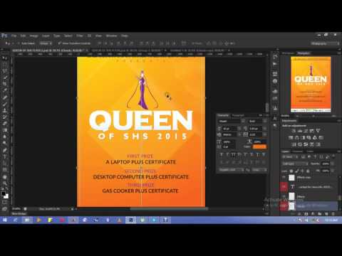 Photoshop flyer design 2015 youtube for How to design a brochure in photoshop