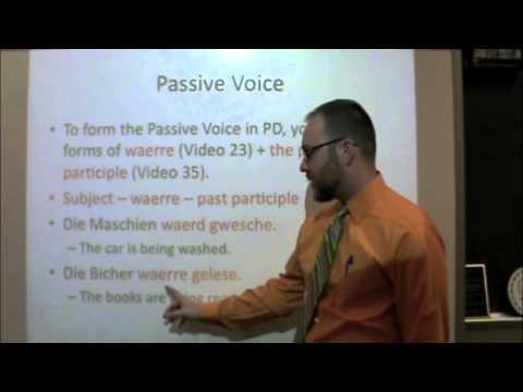 PA Dutch 101: Video 40 - Passive Voice.m4v