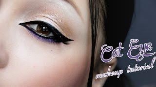 """Макияж""""Кошачий глаз""""/Cat Eye Makeup Tutorial"""
