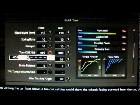 Gran Turismo 5 Prologue Tuning Options Youtube