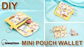 DIY MINI PURSE WALLET | Wallet with 4 pockets inside | Cute Zipper Pouch Bag Tutorial [sewingtimes]
