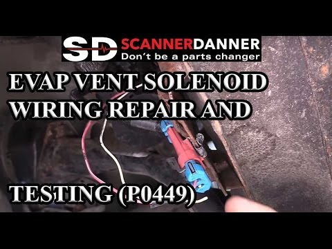 Evap Vent Solenoid Wiring Repair And Testing P0449 Youtube