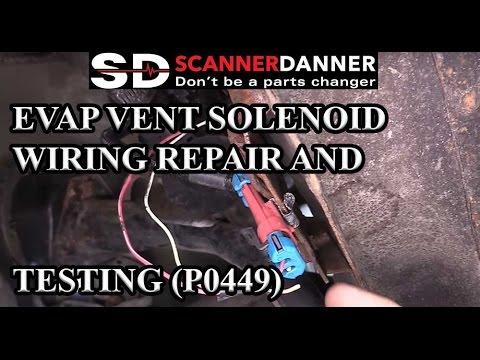 EVAP vent solenoid wiring repair and testing P0449  YouTube