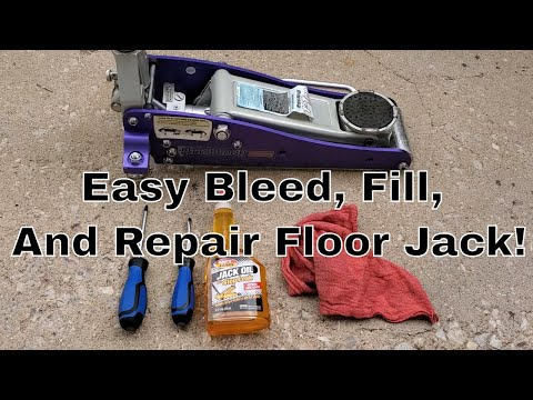 How to Repair A Broken Floor Jack That Won't Lift