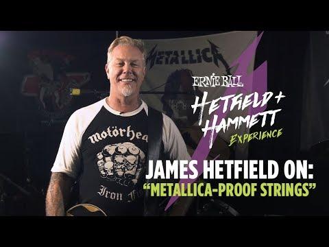 James Hetfield talks Guitar Strings
