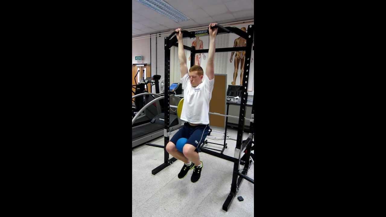 Hanging knee raises with medicine ball - Medicine Ball Hanging Knee Raises With Commentary